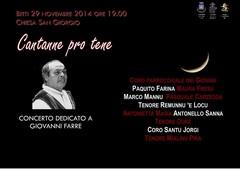 Cantanne pro tene - Concerto dedicato a Giovanni Farre